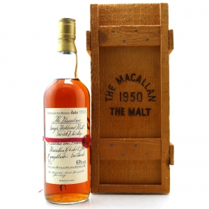 Macallan 1950 Handwritten Label / German Import