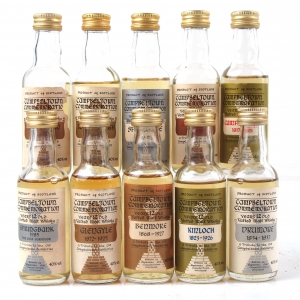 Miscellaneous Campbeltown and Commemoration Miniature Selection 10 x 5cl