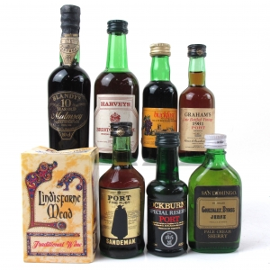 Miscellaneous Wine , Port and Sherry Miniature Selection 8 x 5cl