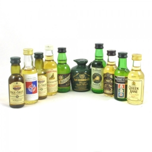 9 Miscellaneous Blended Whisky Miniatures