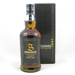 Springbank 1997 Single Cask for Oddbins front
