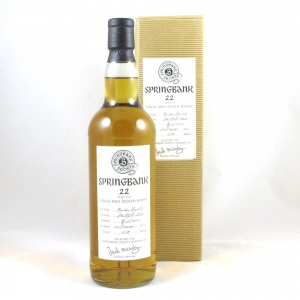 Springbank 22 Year Old Bourbon Hogshead Front
