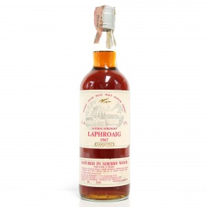 Laphroaig 1967 Samaroli 15 Year Old Sherry Wood / Signed by Silvano Samaroli