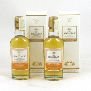 Macallan Amber 5cl Miniature x 2 Front
