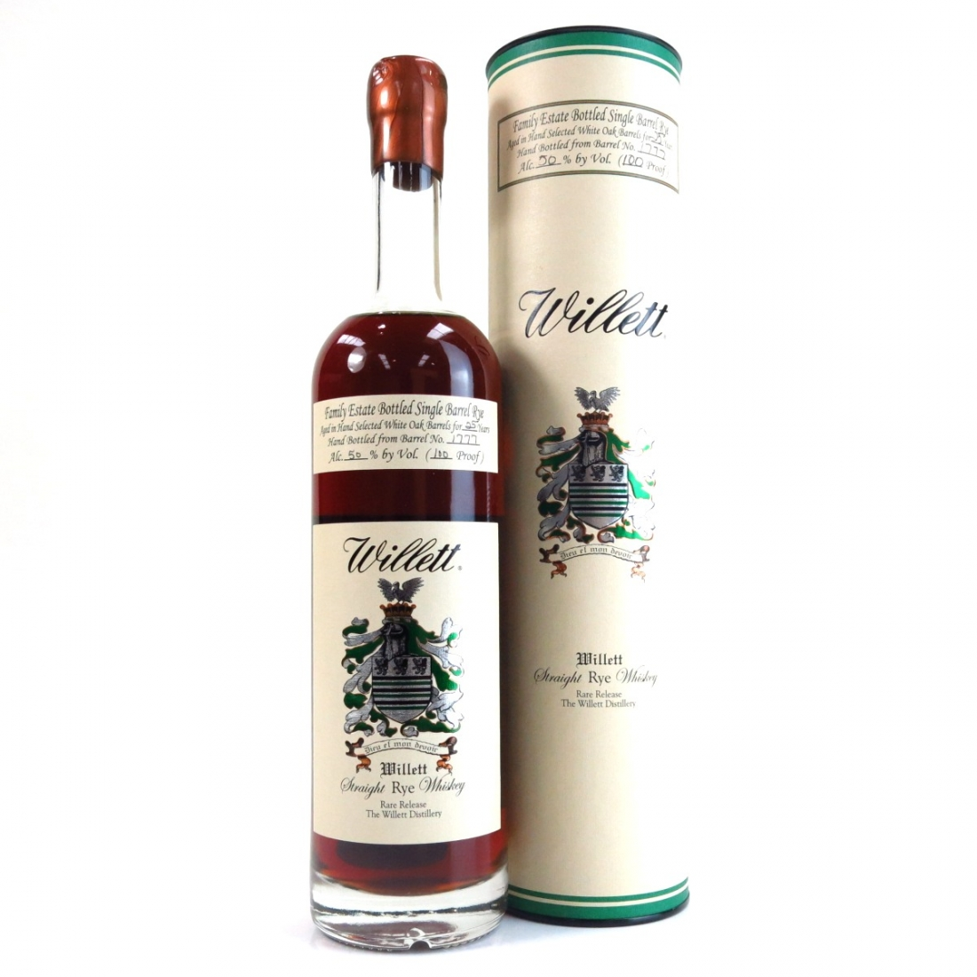 7273a5006d3 Willett Family Estate 25 Year Old Straight Rye