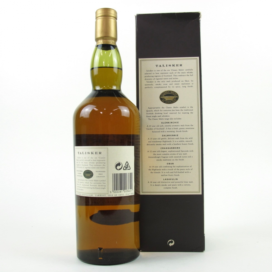 talisker 10 year old map label 1 litre whisky auctioneer scotch