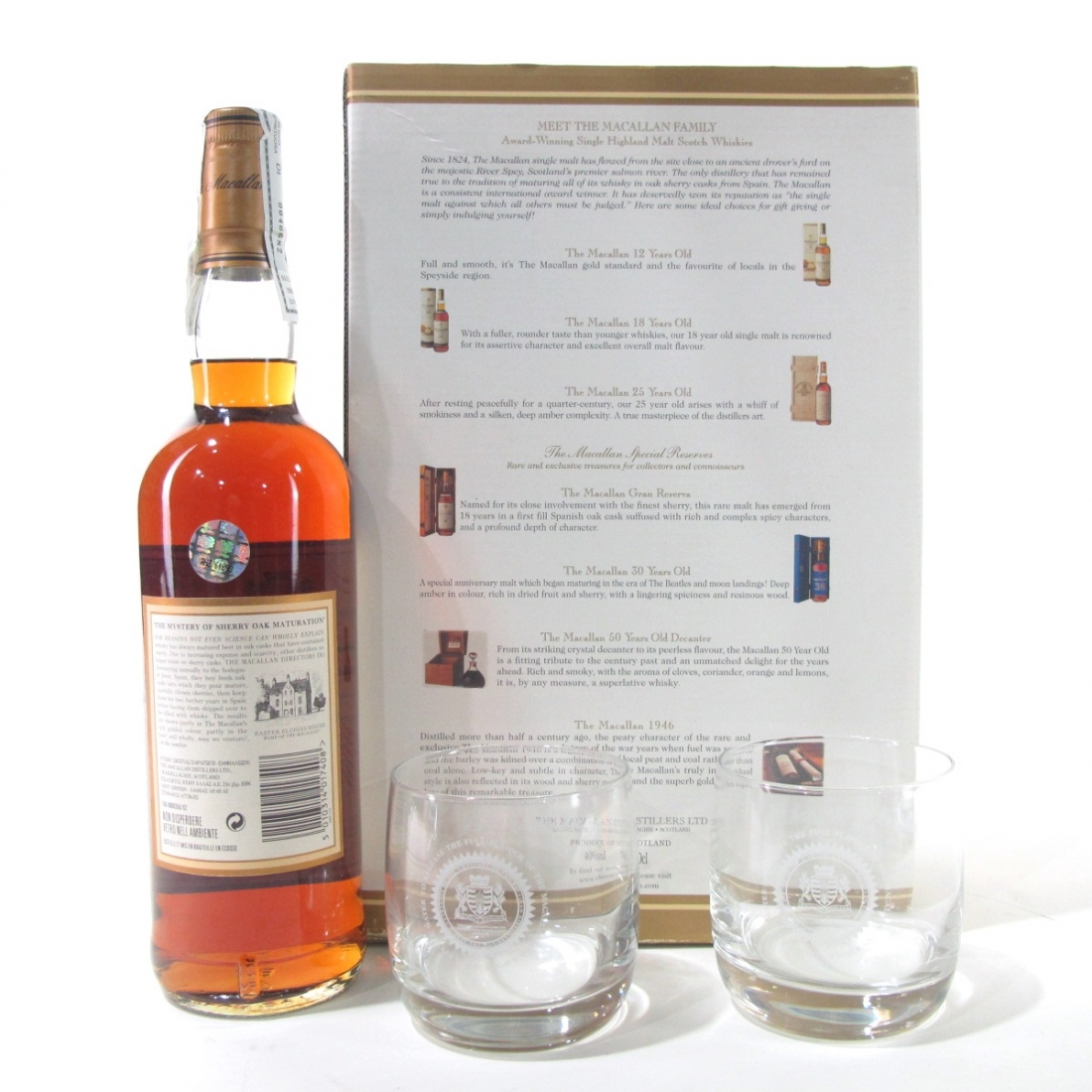 Macallan 12 Year Old 1990 Gift Set / Including 2 Tumblers | Whisky