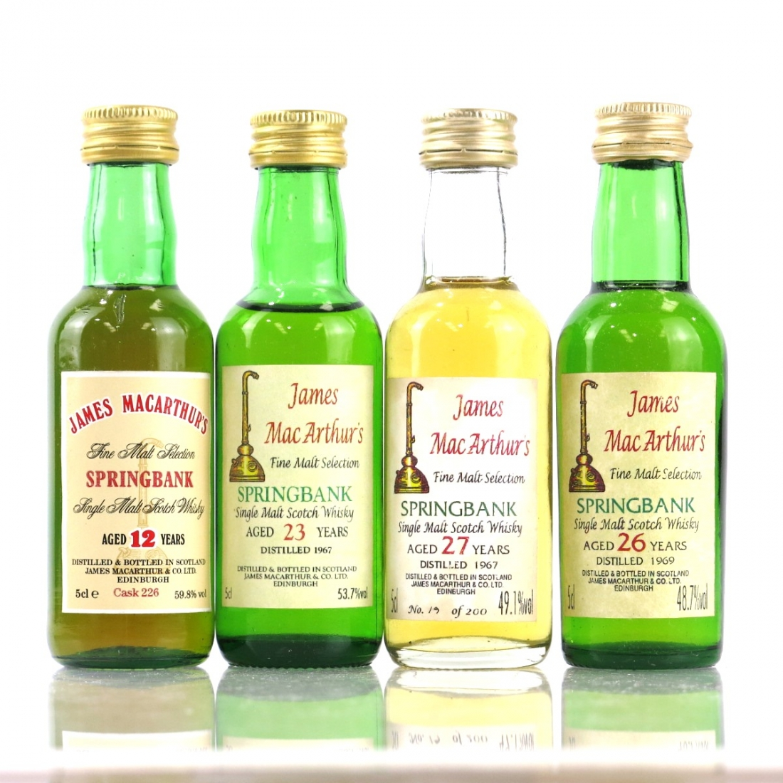 Springbank James MAcArthur's Miniatures 4 x 5cl | Whisky