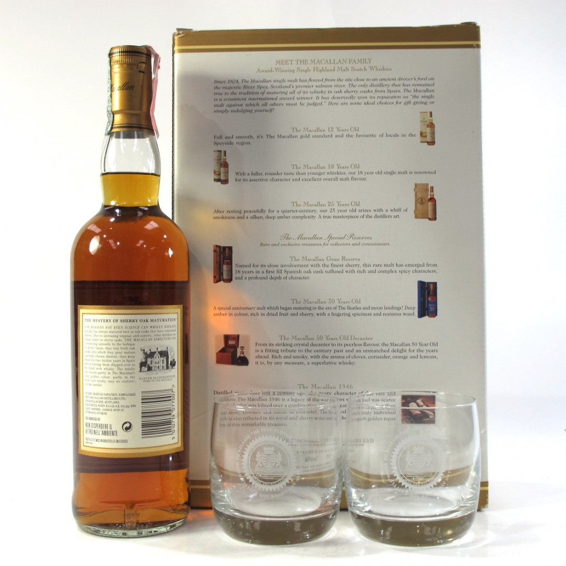 Macallan 7 Year Old Armando Giovinetti Special Selection / Glass