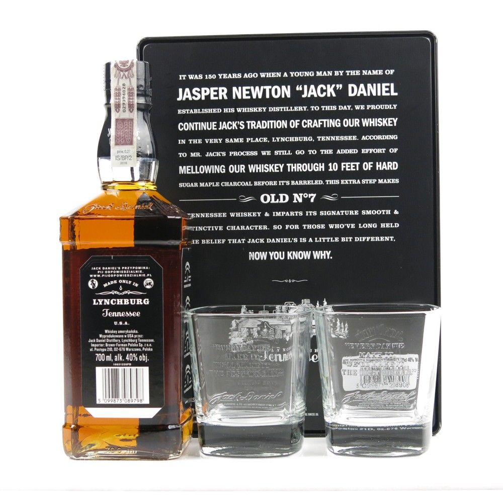 Jack Daniel's 150th Anniversary Gift Set / Including 2 Glasses