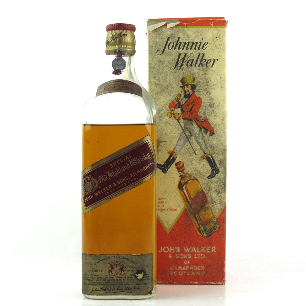 Johnnie Walker Red Label Old Highland Whisky Circa 1939   Whisky Auctioneer