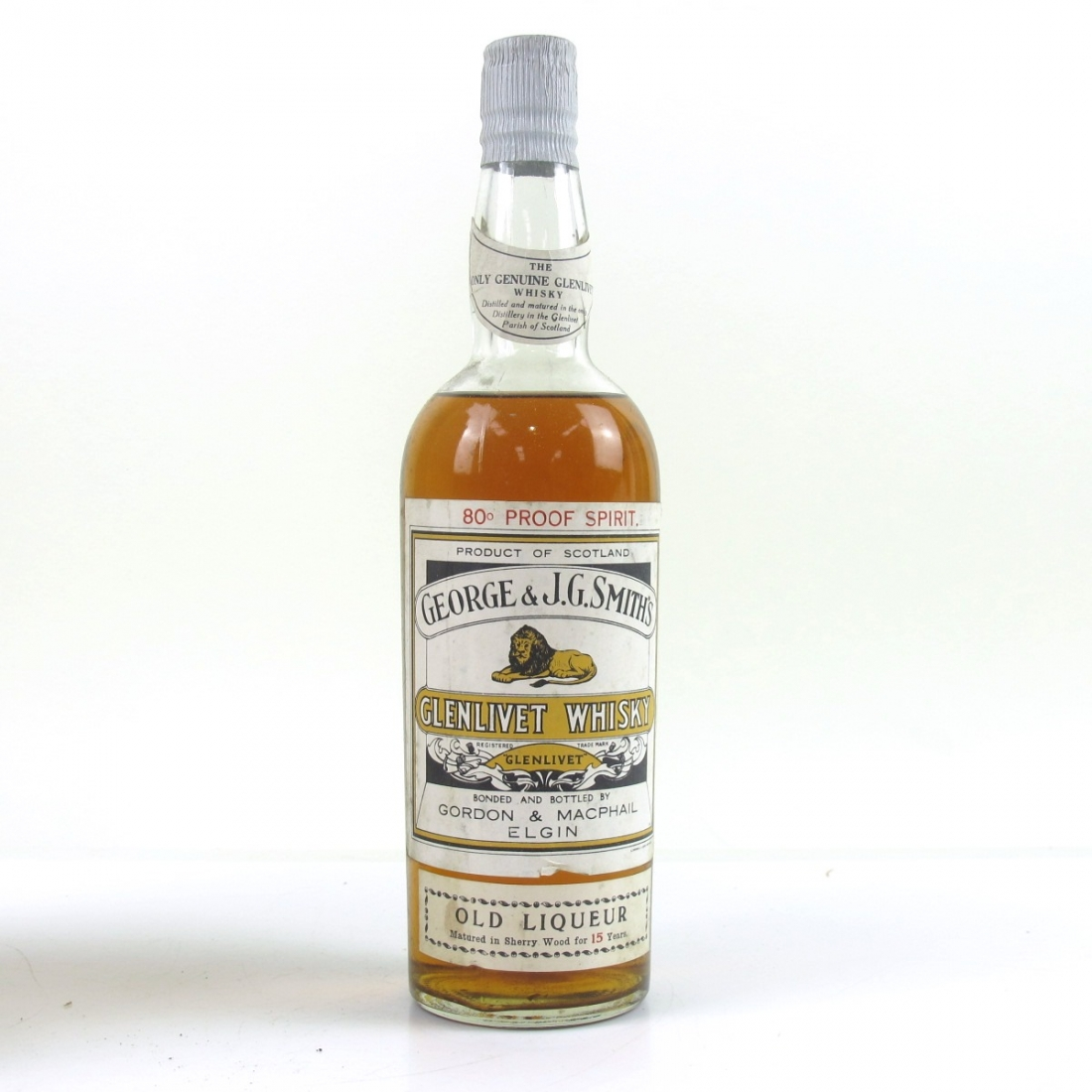 6176f6aec18 Glenlivet 15 Year Old Gordon and MacPhail 80 Proof 1950s
